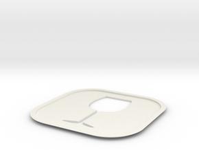 Wine Coaster in White Natural Versatile Plastic