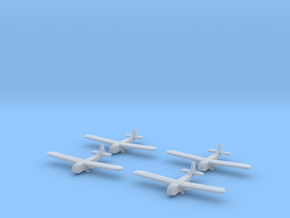 Waco Glider -1/700-(x4) in Smooth Fine Detail Plastic