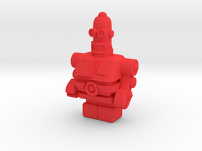 USB Robot in Red Processed Versatile Plastic