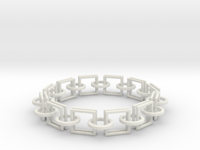 Circles and Squares Bracelets in White Strong & Flexible