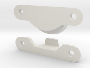 Window Latch Lock in White Natural Versatile Plastic