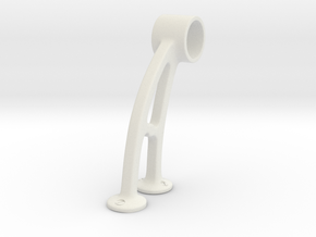 Bar Bracket in White Natural Versatile Plastic