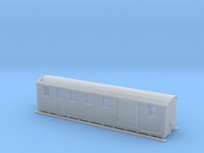 Komb. Personen- und Gepäckwagen der MPSB (1:87) in Smooth Fine Detail Plastic
