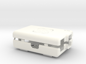 Raspberry Pi CASE 1.0 in White Strong & Flexible Polished