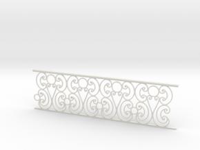 1:24 Ornate Railing in White Natural Versatile Plastic