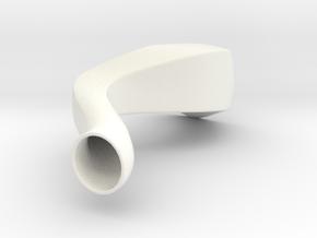 The Wave in White Processed Versatile Plastic