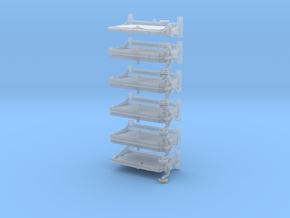 Titanic Welin Davits 1:72 in Smooth Fine Detail Plastic