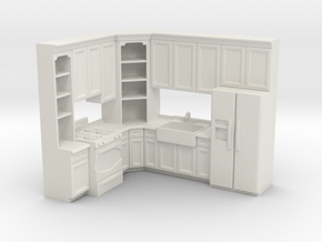1:48 Farmhouse Kitchen H in White Natural Versatile Plastic