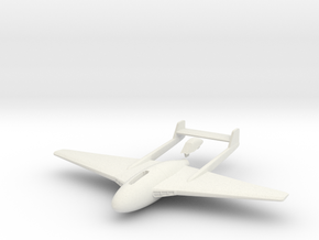 Aircraft-  DH 100 Vampire Mk I (1/144th) in White Natural Versatile Plastic