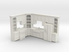 1:48 Farmhouse Kitchen C in White Natural Versatile Plastic