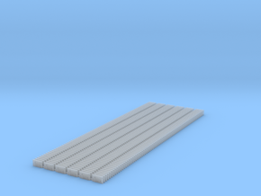 4 Hole Tieplate - Code 125 -  450 in Smooth Fine Detail Plastic