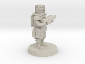 28mm Heroic Scale Space Cossack Trooper  in Natural Sandstone
