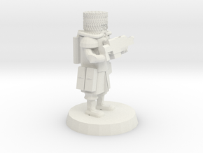 28mm Heroic Scale Space Cossack Trooper  in White Natural Versatile Plastic
