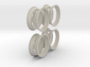 1/8 scale Wheel set  in Natural Sandstone