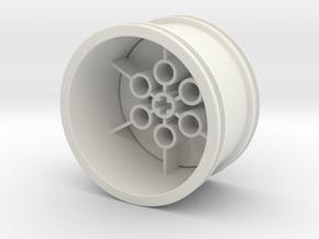 Wheeloader Rim Small in White Natural Versatile Plastic