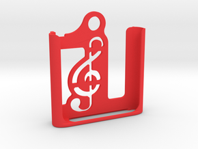 iPod Nano 6th gen.   Keychain Case in Red Processed Versatile Plastic