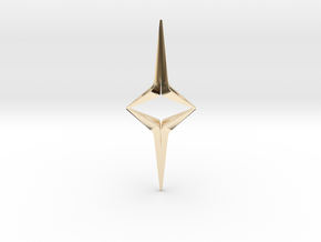 YOUNIVERSAL Sharp Duo, Pendant in 14K Yellow Gold