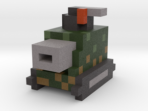 Voxel Light Tank in Full Color Sandstone