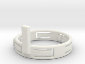 FocusHandleWithFingers10mm 120305 in White Natural Versatile Plastic