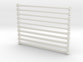 x bars in White Natural Versatile Plastic