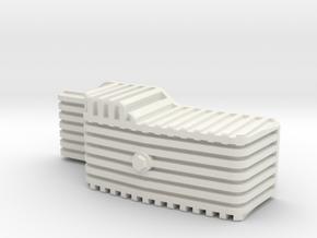 1:16 scale M&W oil pan for custom tractors in White Natural Versatile Plastic