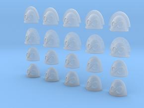 20 28mm Custom Shoulder Pad Infinity in Smooth Fine Detail Plastic