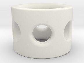 Gear Bolt Sleeve in White Natural Versatile Plastic
