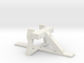 VR narrow gauge bufferstop G45mm gauge in White Natural Versatile Plastic