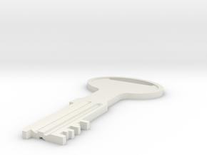 """""""Alcatraz Key"""" prop replica in White Natural Versatile Plastic"""
