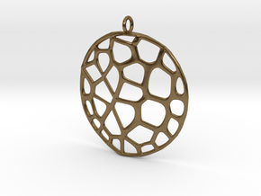 Exteriority Pendant in Natural Bronze