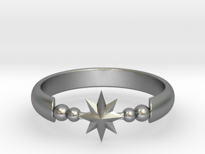 Ring of Star 20.6mm  in Natural Silver