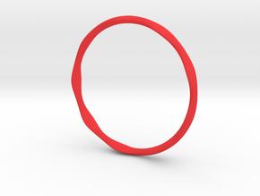 Nest Bangle in Red Processed Versatile Plastic
