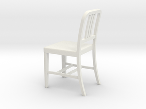 1:24 Alum Chair 2 (Not Full Size) in White Natural Versatile Plastic