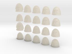 20 28mm Shoulder Pad Alphabet U in White Acrylic