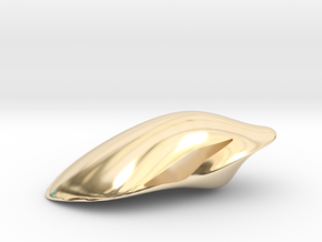 Floating Pendant. Smooth Shaped for Perfect Comfor in 14K Yellow Gold