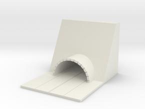 1/700 Small Tunnel in White Natural Versatile Plastic