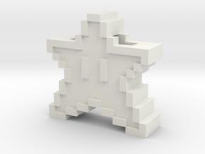 Starman Pendant in White Natural Versatile Plastic