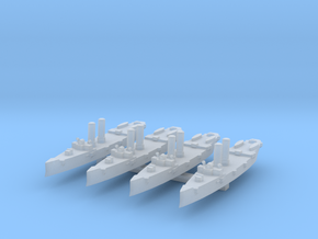 USS Montgomery (1890) 1:4800 x4 in Smooth Fine Detail Plastic
