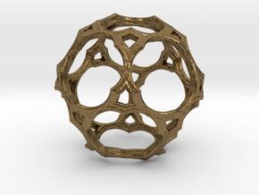 Simple Cage Fractal U16 in Natural Bronze