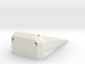 R/C Receiver Diversity Block  in White Natural Versatile Plastic