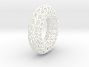 Torus Fractal Stainless Steel Big in White Strong & Flexible Polished