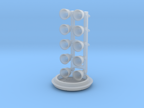 Falcon 9 v1.1 Engines and stage clamps in Smooth Fine Detail Plastic: 1:144