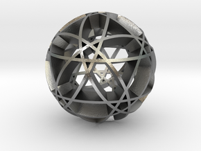 Pentragram Dodecahedron 2 in Natural Silver