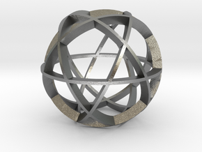 Icosidodecahedron (narrow) in Natural Silver
