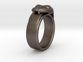 New Size 12.5 Ring (inner diameter is 22.1 mm) in Polished Bronzed Silver Steel