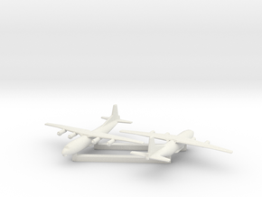1/700 Antonov AN 12 Shaanxi Y8 x2 in White Natural Versatile Plastic