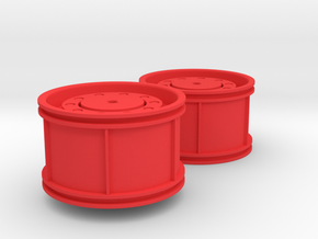 Unimog Rim in Red Processed Versatile Plastic
