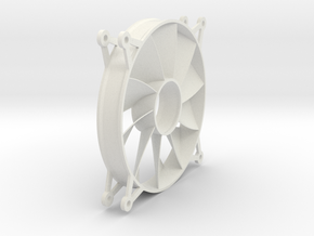 120mm PC Fan Stator in White Natural Versatile Plastic