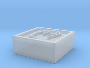 """Square Token - 0.5"""" Confused in Smooth Fine Detail Plastic"""