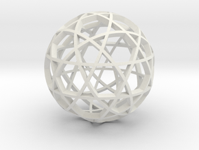 Dodecahedron Ball (narrow) in White Natural Versatile Plastic